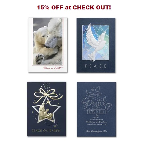 Peace christmas cards peace on earth theme greeting cards peace greeting cards featuring holiday peace theme greetings doves world peace more perfect to send to your international friends and business associates m4hsunfo Images